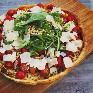 Ricotta-taart met tomaten